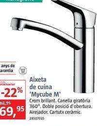 Oferta de Grifo de cocina MYCUBE M por 69,95€