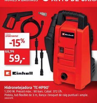 Oferta de Hidrolavadora Einhell por 59€