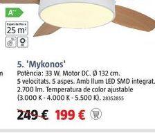 Oferta de Ventiladores MYKONOS  por 199€