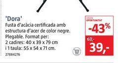 Oferta de Conjunto de balcón DORA por 39€