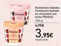 Oferta de Bombones helados frambuesa bañada en chocolate con leche FRANUI por 3,95€