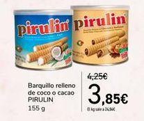 Oferta de Barquillo relleno de coco o cacao PIRULIN por 3,85€