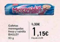 Oferta de Galletas merengadas fresa y vainilla BAGLEY  por 1,15€