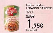 Oferta de Habas cocidas LEBANON GARDENS  por 1,75€