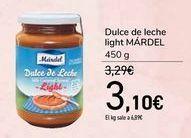 Oferta de Dulce de leche light MÁRDEL  por 3,1€