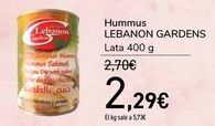 Oferta de Hummus LEBANON GARDENS  por 2,29€
