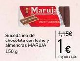 Oferta de Sucedáneo de chocolate con leche y almendra MARUJA  por 1€