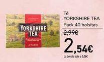 Oferta de Té YORKSHIRE TEA por 2,54€