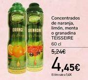 Oferta de Concentrados de naranja, limón, menta o granadina TEISSEIRE  por 4,45€