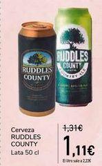 Oferta de Cerveza RUDDLES COUNTY  por 1,11€