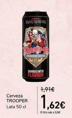 Oferta de Cerveza TROOPER  por 1,62€