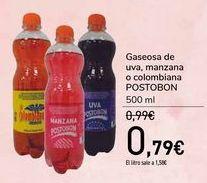 Oferta de Gaseosa de uva, manzana o colombiana POSTOBON  por 0,79€