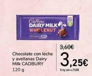 Oferta de Chocolate con leche y avellanas Dairy Milk CADBURY por 3,25€