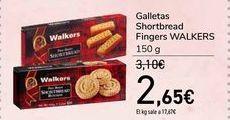 Oferta de Galletas Shortbread Fingers WALKERS por 2,65€