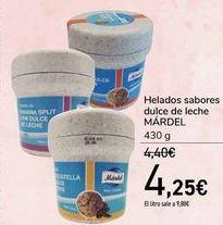 Oferta de Helados sabores dulce de leche MÁRDEL  por 4,25€