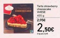 Oferta de Tarta strawberry cheesecake WIESE por 2,5€