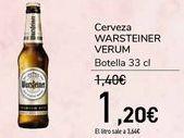 Oferta de Cerveza WARSTEINER VERUM  por 1,2€