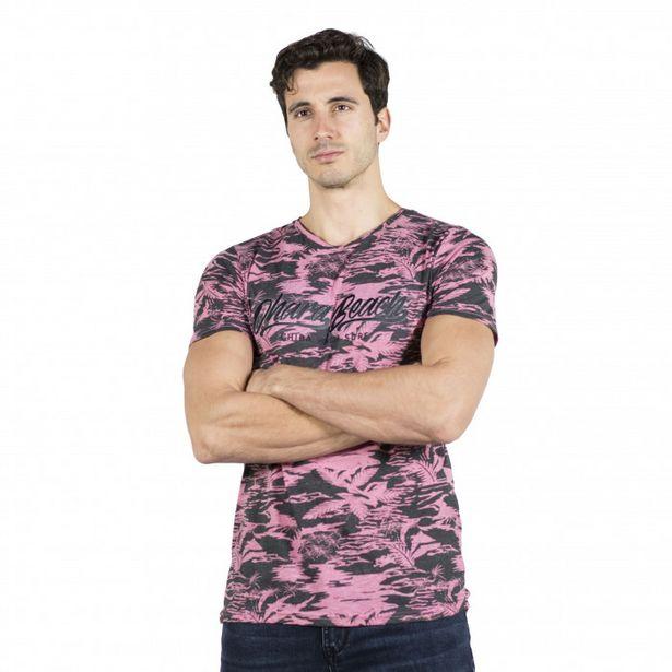 Oferta de Camiseta Estampado Tropical por 9,99€