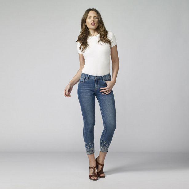 Oferta de Pantalon Con Detalles Florales Mujer por 25,99€