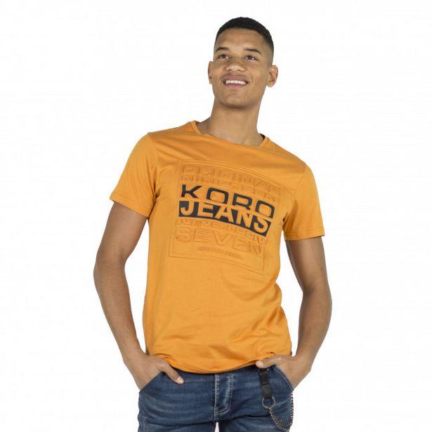 Oferta de Camiseta Estampado En Relieve por 12,99€