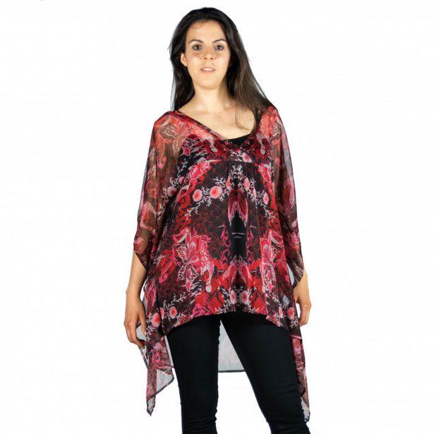 Oferta de Blusa Estampado Tropical por 9,99€