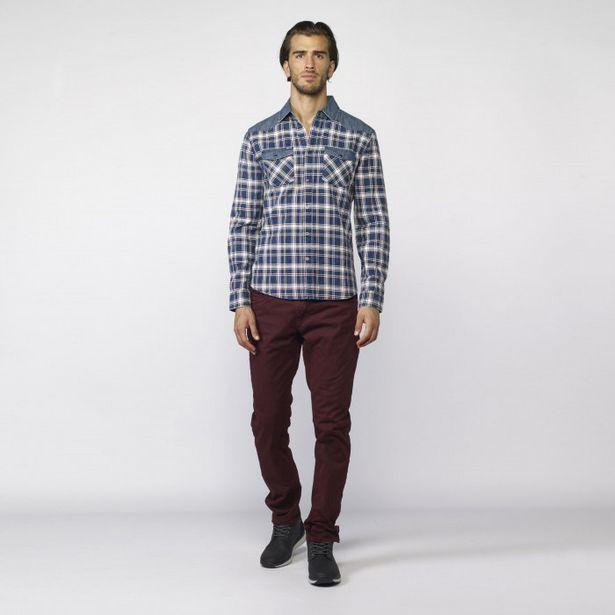 Oferta de Camisa De Cuadros Y Denim por 26,99€