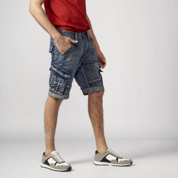 Oferta de Pantalon Corto Loose Fit Denim 100% por 32,99€