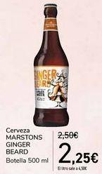 Oferta de Cerveza MARSTONS GINGER BEARD  por 2,25€