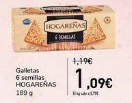 Oferta de Galletas 6 semillas HOGAREÑAS   por 1,09€