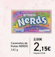 Oferta de Caramelos de frutas NERDS por 2,15€