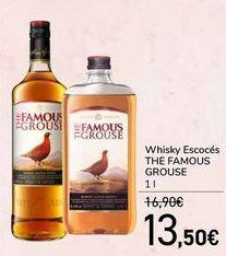 Oferta de Whisky Escocés THE FAMOUS GROUSE por 13,5€