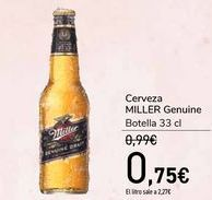 Oferta de Cerveza MILLER Genuine  por 0,75€