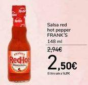 Oferta de Salsa red hot pepper FRANK'S por 2,5€