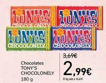 Oferta de Chocolates TONY'S CHOCOLONELY por 2,99€