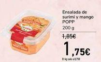 Oferta de Ensalada de surimi y mango POPP  por 1,75€