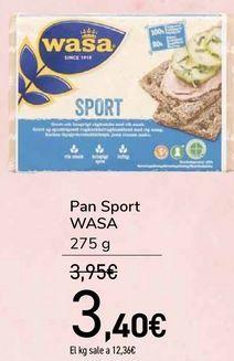 Oferta de Pan Sport WASA  por 3,4€
