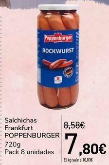 Oferta de Salchichas Frankfurt POPPENBURGER  por 7,8€