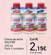 Oferta de Crema de leche SALITER  por 2,15€
