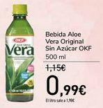 Oferta de Bebida Aloe Vera Original Sin Azúcar OKF por 0,99€