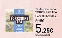 Oferta de Té descafeinado YORKSHIRE TEA por 5,25€