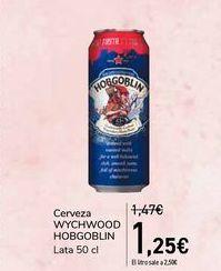 Oferta de Cerveza WYCHWOOD HOBGOBLIN por 1,25€