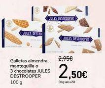 Oferta de Galletas almendra, mantequilla o 3 chocolates JULES DESTROOPER  por 2,5€