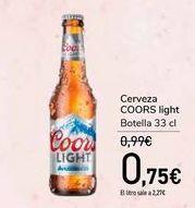 Oferta de Cerveza COORS light por 0,75€