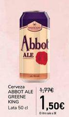 Oferta de Cerveza ABBOT ALE GREENE KING por 1,5€