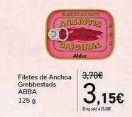 Oferta de Filetes de Anchoas Grebbestads ABBA  por 3,15€