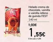 Oferta de Helado crema de chocolate, vainilla o vainilla relleno de guinda FEST  por 1,55€