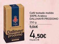 Oferta de Café tostado molido 100% Arabica DALLMAYR PRODOMO  por 4,5€