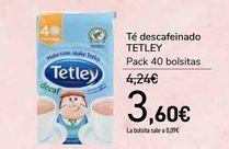 Oferta de Té descafeinado TETLEY por 3,6€