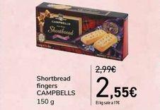 Oferta de Shortbread fingers CAMPBELLS por 2,55€
