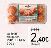 Oferta de Galletas sin gluten POP CREOLA por 2,4€